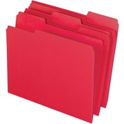 Staples® Colored Top-Tab File Folders, 3 Tab, Red, Letter Size, 24/Pack