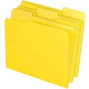 Staples® Colored Top-Tab File Folders, 3 Tab, Yellow, Letter Size, 24/Pack