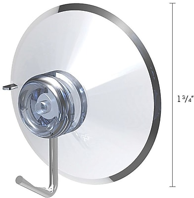 """""""""""Deflecto Suction Cup with Hooks, 1 3/4"""""""""""""""" (20011RT)"""""""""""" 291451"""
