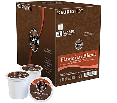 Keurig K-Cup Tully's Hawaiian Blend Coffee, Regular, 24 Pack 140884