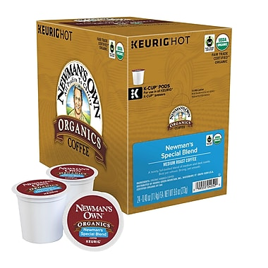 Keurig® K-Cup® Newman's Own® Organics Special Blend Medium Roast Coffee, Regular, 24 Pack