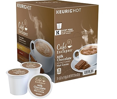 Keurig K-Cup Cafe Escapes Milk Chocolate Hot Cocoa, 24/Pack 848993