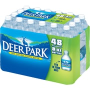 Deer Park Brand 100% Natural Spring Water, 8-Ounce Mini Plastic Bottles, 48/Pack