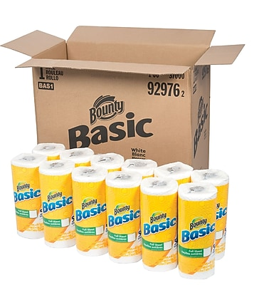 Bounty Basic 1 Ply Paper Towels 30 Rolls Case