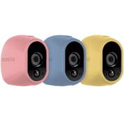 NETGEAR Arlo Skins - Pink, Blue, Yellow Skins - Designed for Arlo Wire-Free Cameras (VMA1200C)