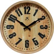 "Infinity Instruments 14.125"" Wood Wall Clock, The Barrel"
