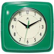 "Infinity Instruments 9""  Wall Clock, Square Retro Green"