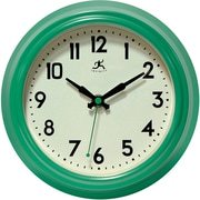 "Infinity Instruments 8.5""  Wall Clock, Retro Diner Green"
