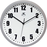 "Infinity Instruments 12""  Wall Clock, Silver Office Clock"