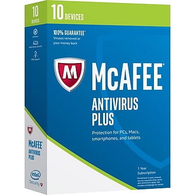 McAfee AntiVirus Plus - 10 Devices License $14.99 shipped w/Staples Rewards # online deal