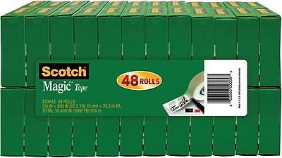 """Scotch® Magic™ Tape, 3/4"""" x 1000"""", 48/Pack"""