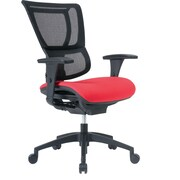 Staples Professional Series 1500TF Mesh Back Chair, Red