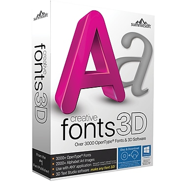 Creative Fonts 3D (2 User) [Boxed]