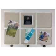 CLEONA LINEN PINBOARD WHITE