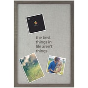 MAGNETIC CANVAS PINBOARD BROWN