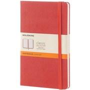"Moleskine Classic Notebook, 8.25"" x 5"", Hard Cover, Narrow Ruled, Coral Orange (893618)"