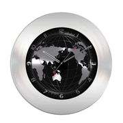 La Crosse TFA 60.3006 Stainless Steel Silent Sweep Wall World Clock