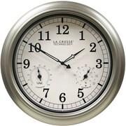La Crosse Technology WT-3181PL-Q 18 Inch Indoor/Outdoor Thermometer & Hygrometer Quartz Wall Clock