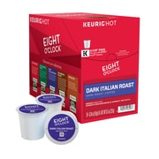 Keurig K-Cup Eight O'Clock Dark Italian Roast Coffee, Regular, 24 Pack