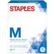 "Staples Multipurpose Paper, 8 1/2"" x 11"", 500/Ream (513099-WH)"