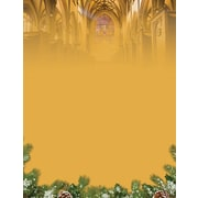 """Great Papers! Holiday Stationery 8.5"""" x 11"""" Christmas Cathedral 80 count (2015099)"""