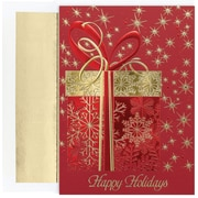Great Papers! Glittering Gift Greeting Card, 5.625 x 7.875,16 Cards/16 Foil-Lined Envelopes