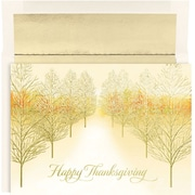 Great Papers! Thanksgiving Forest Greeting Card, 7.875 x 5.625,16 Cards/16 Foil-Lined Envelopes
