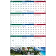 2017 House of Doolittle 18 x 24 Reversible Wall Planner Earthscapes Scenic (3930)