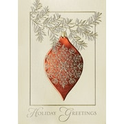 Great Papers! Elegant Ornament Greeting Card, 5.625 x 7.875,16 Cards/16 Foil-Lined Envelopes
