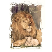 Great Papers! Lion & Lamb Greeting Card, 5.625 x 7.875,18 Cards/18 Foil-Lined Envelopes