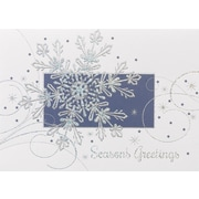 Great Papers! Snowflake Flurry Greeting Card, 7.875 x 5.625,16 Cards/16 Foil-Lined Envelopes