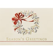Great Papers! Classic Wreath Greeting Card, 7.875 x 5.625,16 Cards/16 Foil-Lined Envelopes