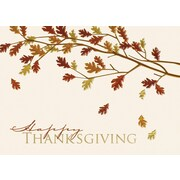 Great Papers! Thanksgiving Foil Leaves Greeting Card, 7.875 x 5.625,16 Cards/16 Foil-Lined Envelopes