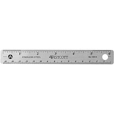 Westcott® Stainless Steel Ruler, 6