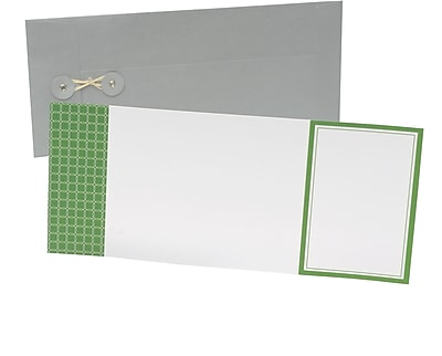 Gartner Studios Green Octagons Invitations 4.5 x 6.12 10 Pack 42813