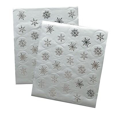 Gartner Studios Silver Snowflake Seals 5.25 x 6.25 50 Pack 61682