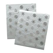 "Gartner Studios, Silver Snowflake Seals, 5.25"" x 6.25"", 50 Pack  (61682)"