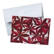 "Gartner Studios, Red Pontsettia Notecard, 3.5"" x 5"", 10 Pack (79984)"