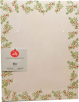 Gartner Studios Christmas Pine Stationery 8.5 x 11 80 Pack 18678