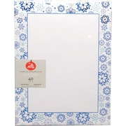 "Gartner Studios, Blue Foil Snowflake Stationery, 8.5"" x 11"", 40 Pack  (18680)"