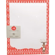 "Gartner Studios, Whimsy Reindeer Stationery, 8.5"" x 11"", 80 Pack  (18685)"