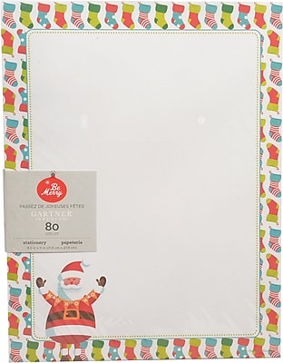Gartner Studios Whimsy Santa Stationery 8.5 x 11 80 Pack 18686