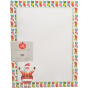 "Gartner Studios, Whimsy Santa Stationery, 8.5"" x 11"", 80 Pack  (18686)"