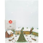 "Gartner Studios, Winter Villiage Stationery, 8.5"" x 11"", 80 Pack  (18689)"