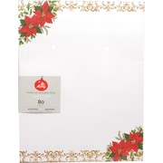"Gartner Studios, Pointsettia Stationery, 8.5"" x 11"", 80 Pack  (18690)"