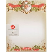 "Gartner Studios, Santa with Foil Stationery, 8.5 x 11"" , 40 Pack  (18691)"