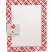 "Gartner Studios, Plaid Stationery, 8.5 x 11"", 80 Pack  (18692)"