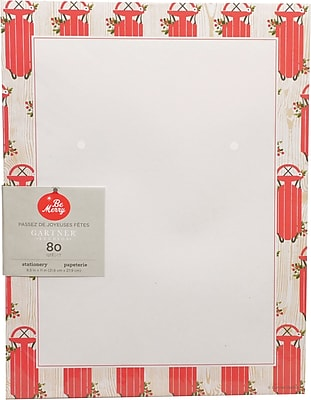 Gartner Studios Sleds Stationery 8.5 x 11 80 Pack 18695