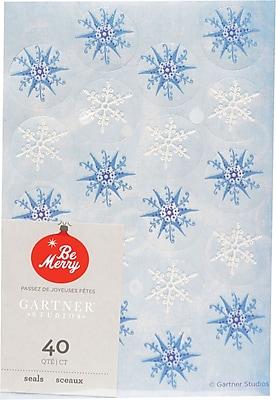 Gartner Studios Glitter Snowflake Seals 4.25 x 6.25 40 Pack 18707