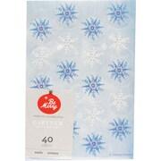 "Gartner Studios, Glitter Snowflake Seals, 4.25"" x 6.25"", 40 Pack  (18707)"